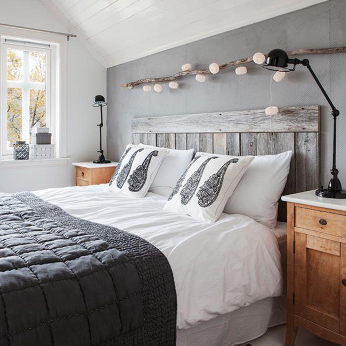 deco chambre grise chambre noir et blanc - Idee Deco Chambre Gris