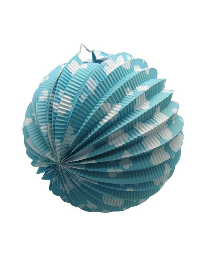 Blue Butterfly Paper Ball Lanterns (Pack of 6)