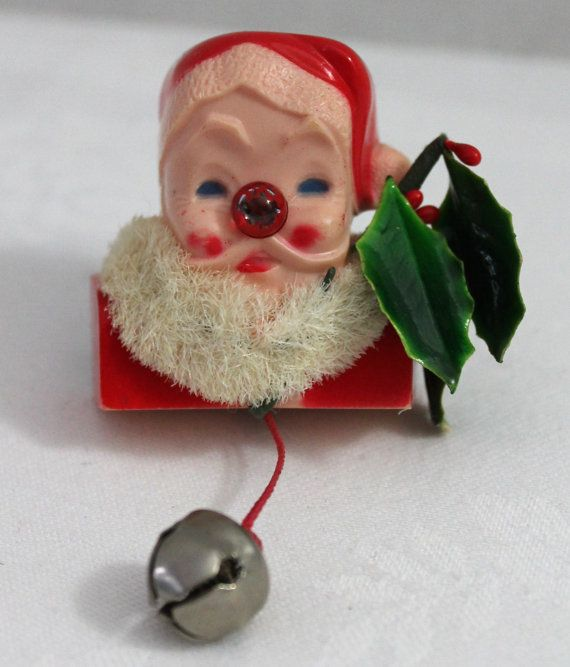 Vintage Santa Claus Pin Brooch by mylilshabbycottage on Etsy, $15.00