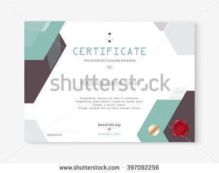 38 best Certificate template collection images on Pinterest - best of blank certificate design