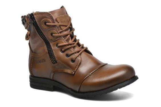 Bottines et boots Sara zip Bunker vue 3/4
