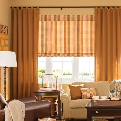 Bali Classic Tab Draperies brings a casual, yet custom tailored look to your windows. Gentle folds are formed when the tabs are shirred onto the rod.