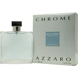 CHROME Cologne by Azzaro - Introduced in 1996, Chrome by Azzaro is a defining fragrance for the everyday man, enhancing your natural scent with an exhilarating combination of aromas. Infused with layers of tangy citrus that are sure to last all day long, this casual cologne will smell bright, energetic and memorable to anyone you pass in the office or on the street. Make your senses come alive with a spritz of Chrome to your neck and wrists, and embrace the casual confidence it inspires.