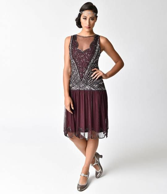 Make Sway, Darling. This Gorgeous Rich Plum Purple Flapper