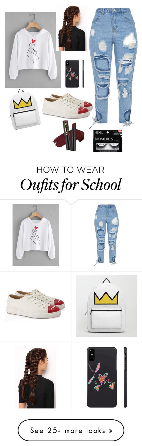 """School day flex day!!"" by cherolxcreations on Polyvore featuring Charlotte Olympia, LullaBellz and L.A. Girl"