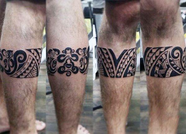Top 37 Calf Band Tattoo Ideas 2020 Inspiration Guide Leg Band Tattoos Tribal Tattoos Hawaiian Tribal Tattoos