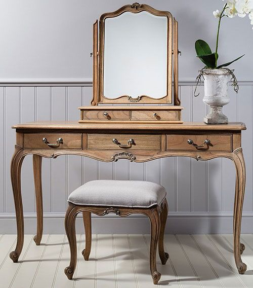 Sandbanks Natural Dressing Table Stool And Mirror set