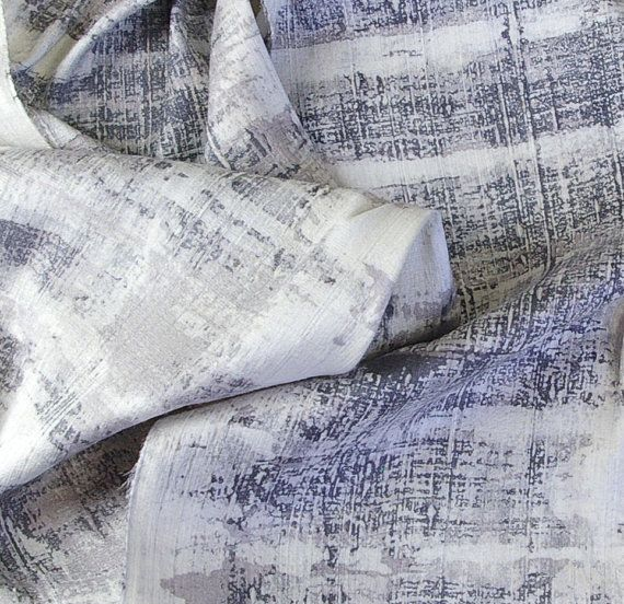 "Birch Bark in Grays - Thick Dupioni Mens Silk Scarf (approx. 11x54 inches) Hand Dyed by Laura Elderton ""Silk in Art""  www.etsy.com/shop/lauraelderton"