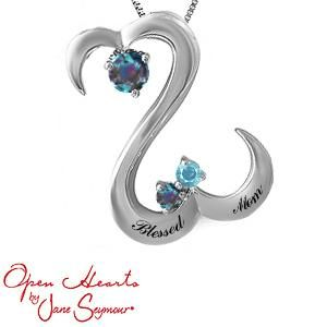 Personalize Your Open Hearts by Jane Seymour® Family Necklace