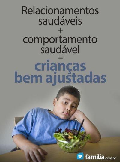 Relacionamentos saudáveis + Comportamento saudável = Crianças bem ajustadas