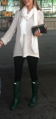 small pop of color from the Hunter boots