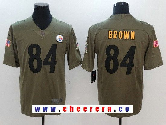 51000549889 ... promo code for black color rush game jersey mens pittsburgh steelers 84  antonio brown olive 2017
