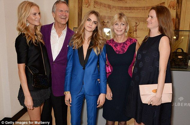 Model family!Socialite Pandora Delevingne (fourth from the right) is set to reveal all in a new tell-all memoir, Shadows On My Wall