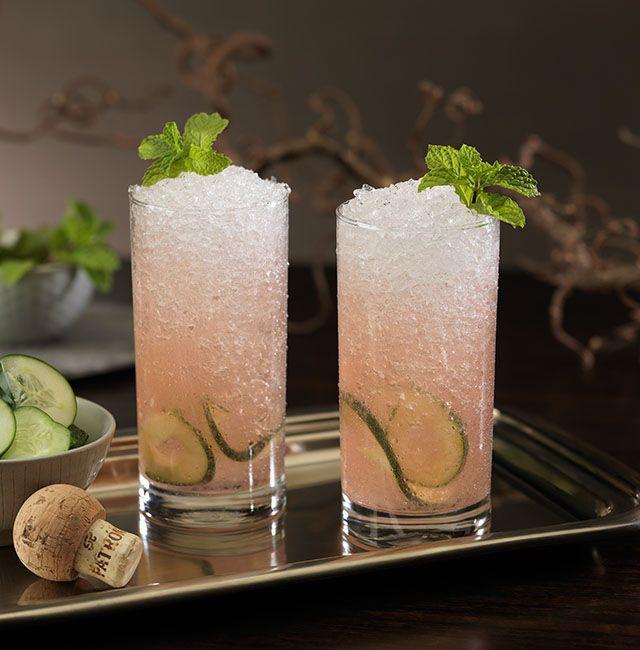 Enjoy Cucumber Swizzle, a cocktail made with @Patrón Reposado.