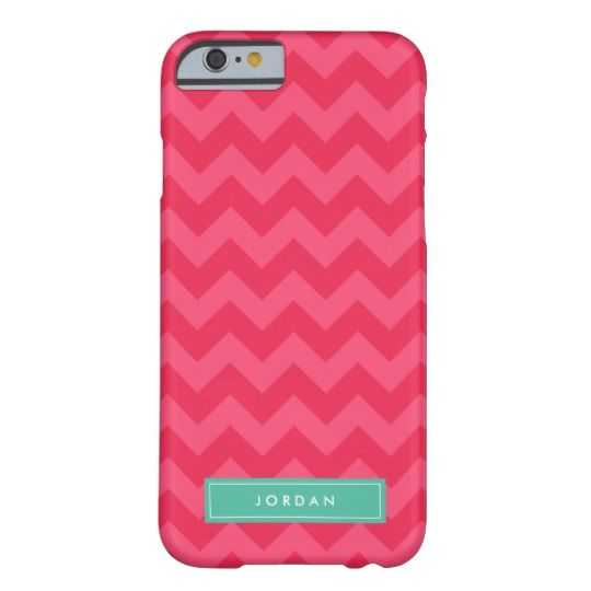 Personalize Preppy Pink Chevron Monogram Barely There iPhone 6 Case by Rosewood and Citrus on Zazzle