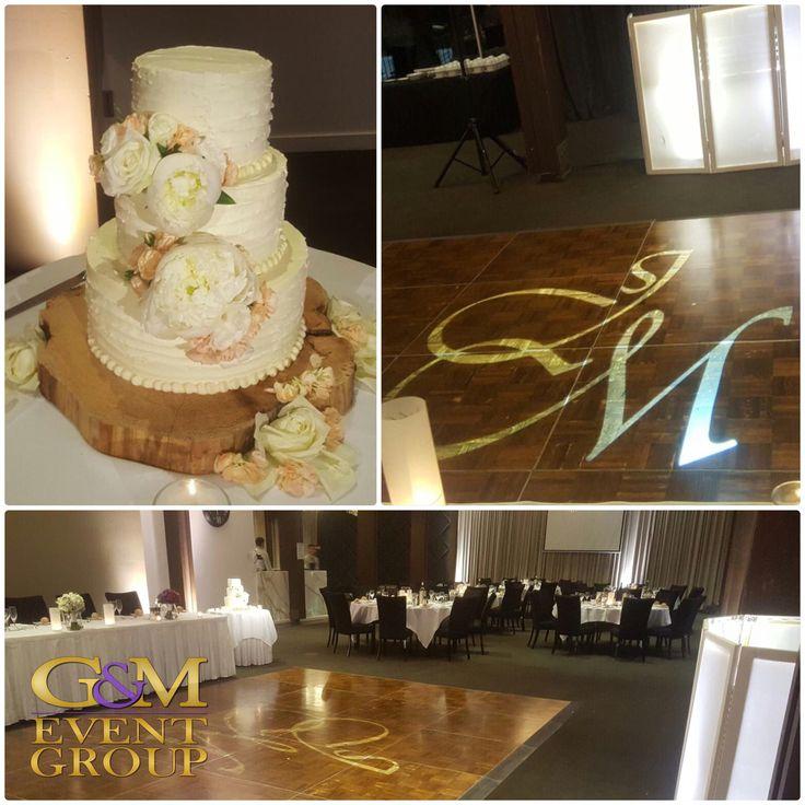 Dance floor Custom Monogram at Victoria Park Golf Club   Brisbane Wedding Lighting   #mongram #weddinglighting #weddingcake #brisbanewedding