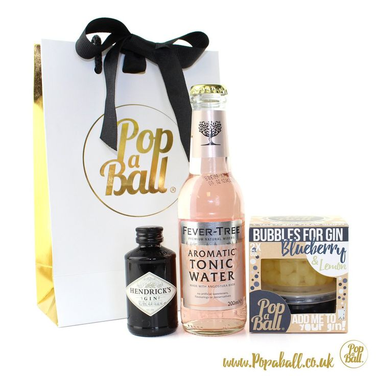 Bombay Sapphire Gin and Tonic with Bubbles for Gin Gift Set. The perfect gift for gin lovers. Choose your tonic! Add pink tonic, blue tonic or fever tree tonic