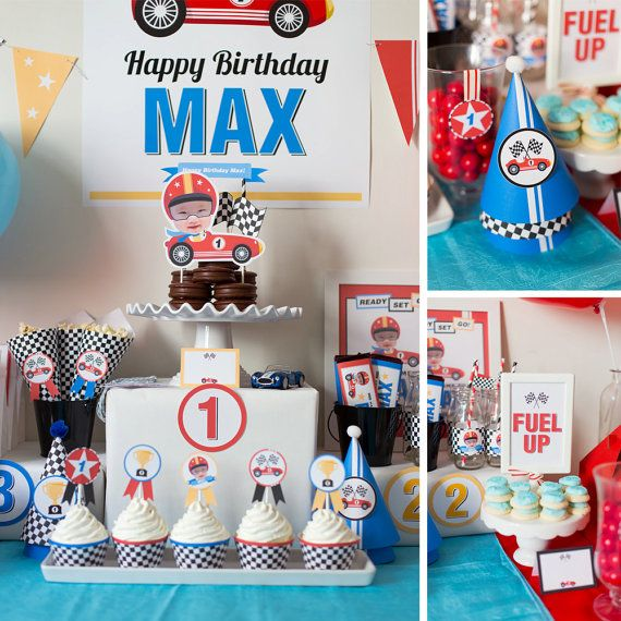 Race Car Birthday Photo Race Car Party Kit Race Car di maydetails