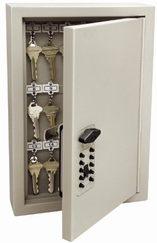 Kidde AccessPoint 001795 Combination TouchPoint Entry Key Locker, Clay, 30 Key  Kidde AccessPoint 001795 Combination TouchPoint Entry Key Locker, Clay, 30 Key Stronger than any key cabinet in its class, this wall-mount unit is constructed from 16-gauge heavy duty steel for optimal security and durability. The cabinet holds up to 30 keys for safe storage and easy access. A pushbutton lock provides easy access and added security and convenience. A unique clutch mechanism protects from ..