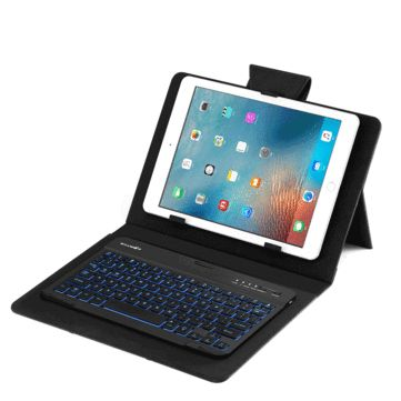 BlitzWolf® 3 Colors LED Backlight <b>Bluetooth Keyboard PU Leather</b> ...