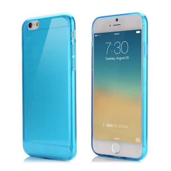 Blauw / transparant TPU hoesje voor iPhone 6 Plus