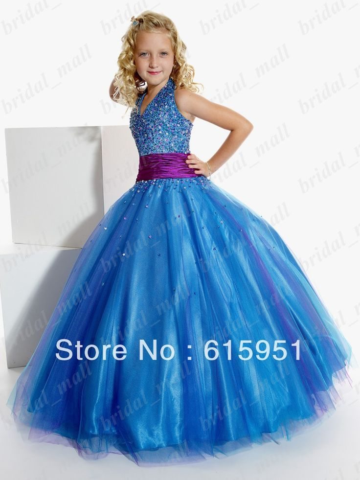 Natural Pageant Dress for Girls Junior Pageant Dress Blue Purple two tones Little Girl's Dress JY291-in Flower Girl Dresses from Apparel & Accessories on Aliexpress.com