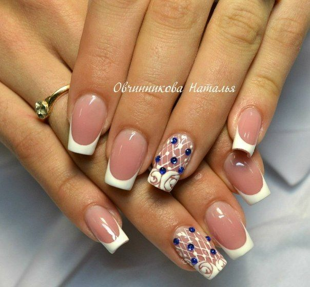 Accurate nails, Beautiful French nails, Beautiful nails, Elegant nails, Exquisite nails, French manicure, French manicure ideas 2016, french manicure news 2016