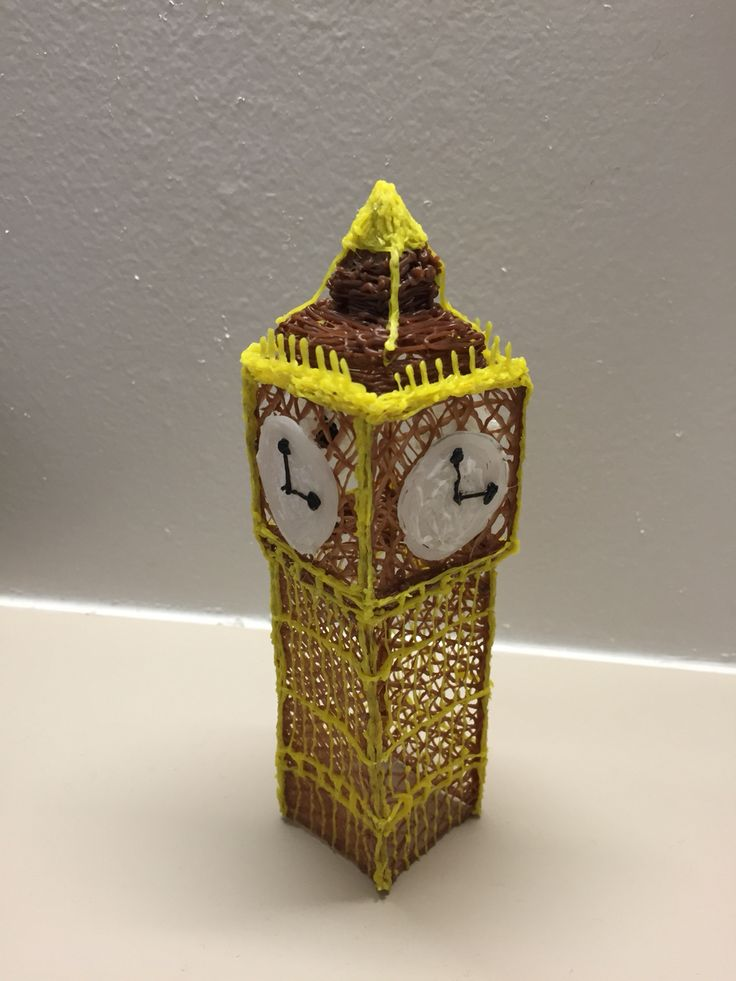Big Ben 3d pen draw. Time to do: 3 hours. Level: hard.
