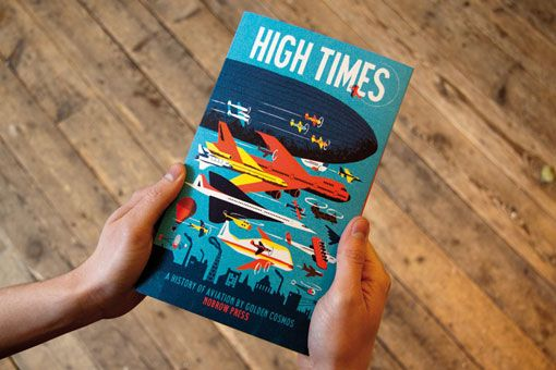 This beautiful Leporello book folds out to a stunning 139cm panorama detailing the history and mythology of flight, from the legendary attempts of Icarus, to the revolutionary innovations of the Jet Age! The wrap-around cover provides educational entries for each panel, detailing notable benchmarks in the history of aviation.
