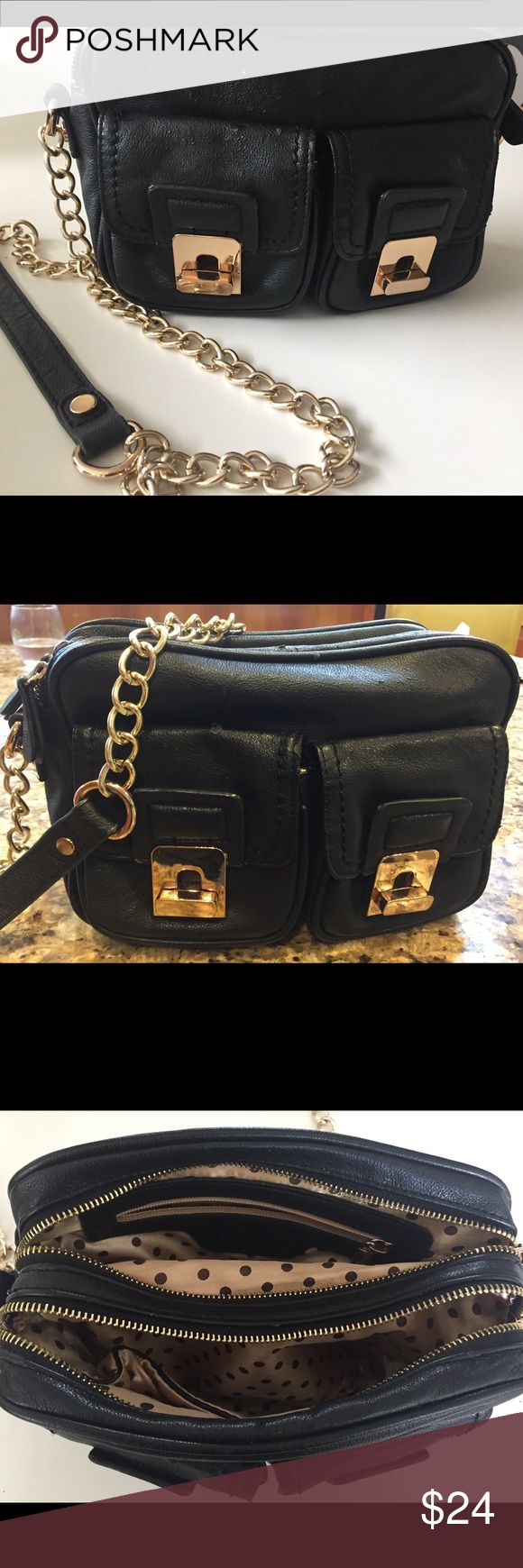 Melie Bianco vegan leather cruelty free handbag Normal wear see photos not as noticeable when carried Melie Bianco Bags Crossbody Bags