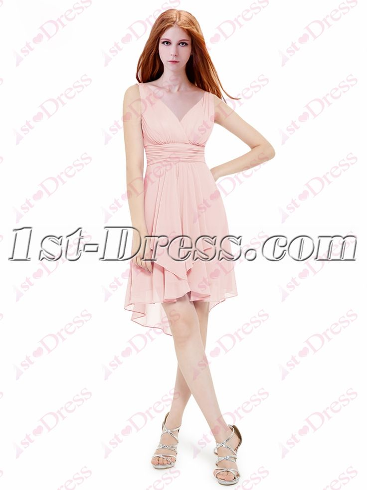 1st-dress.com Offers High Quality Simple Pink High Low Homecoming Gown 2016,Priced At Only US$125.00 (Free Shipping)