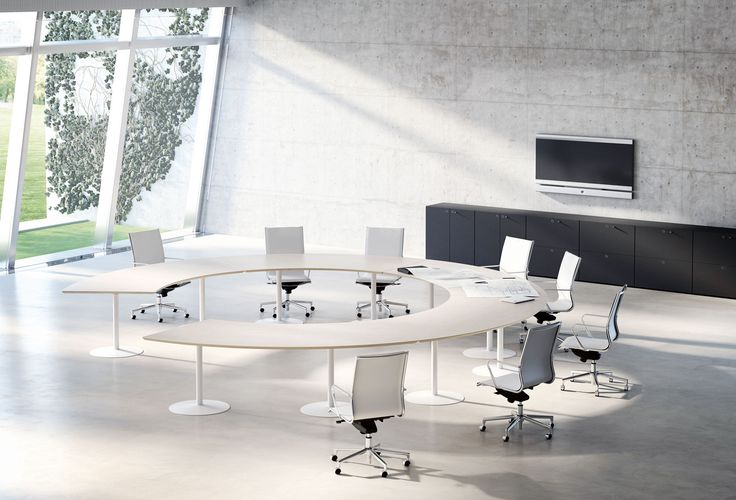 Large Round Meeting Room Table. Www.spaceist.co.uk