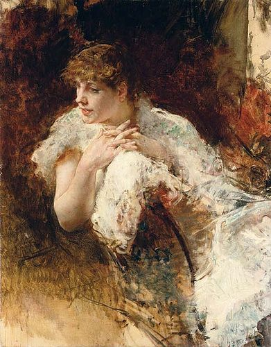 Telemaco Signorini Portrait of a lady, c. 1895