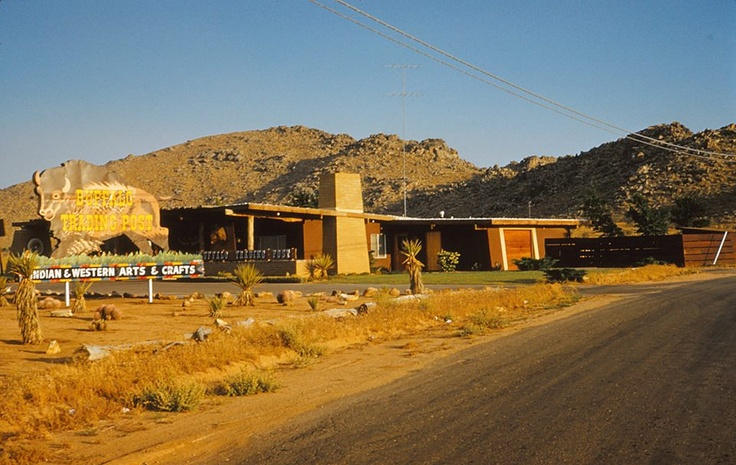 Buffalo Trading Post before Hilltop House was built on Bass Hill, Apple Valley