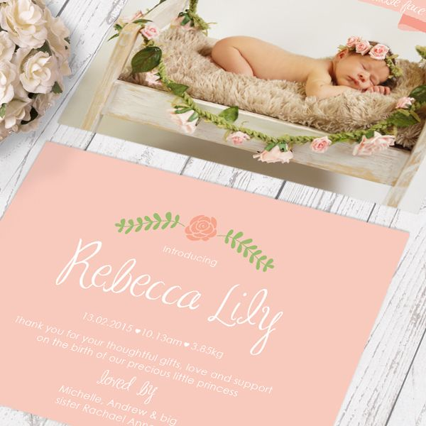 1000 images about Birth Announcements for LITTLE GIRLS on – Birth Announcement Cards Australia