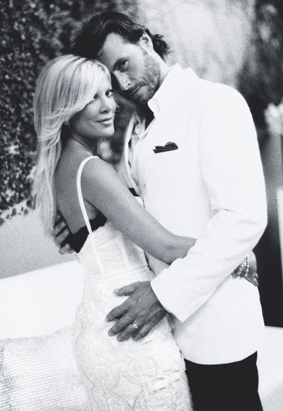 Tori Spelling wore two Dolce & Gabbana dresses when she married Dean McDermott in 2006. The first was an eyelet gown for an intimate Fiji ceremony and the other was worn to her post-wedding fete.