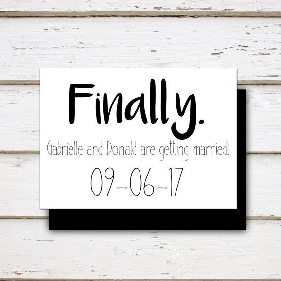 Alexis Printable Funny Save the Date by MellieBellieBoutique