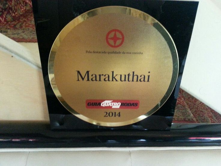 Quinto ano de estrela do Guia 4 Rodas no Marakuthai SP e sétimo ano na Ilha.