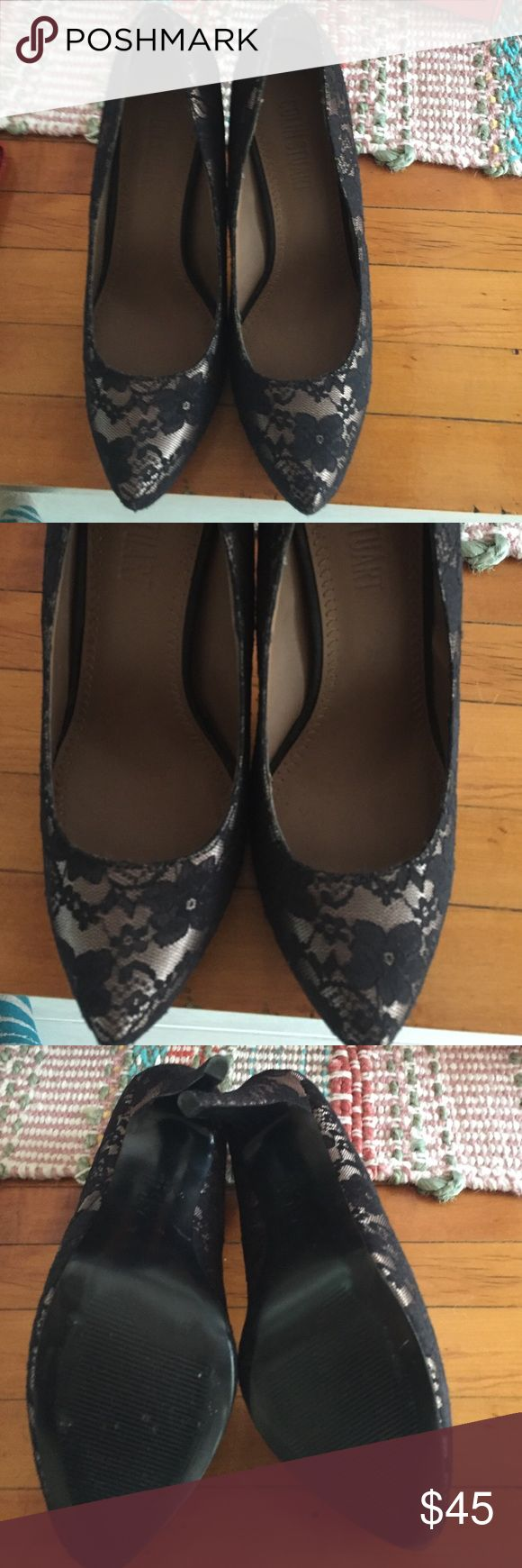 Colin Stuart black lace stiletto pump Colin Stuart black lace stiletto pump size 8. They are more comfortable than they look. I bought them for a wedding and since becoming a momma have no use for them at this point. Clearing out my closet and I know someone else will love them too!! Colin Stuart Shoes Heels