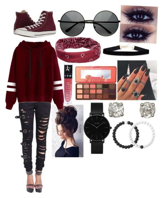 """""""Fall❤️🍂"""" by bambimie on Polyvore featuring mode, Mudd, Converse, Gerber, Too Faced Cosmetics, CLUSE et Lokai"""