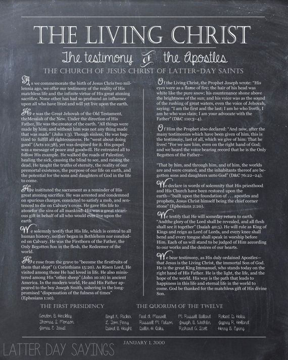 The Living Christ Printable