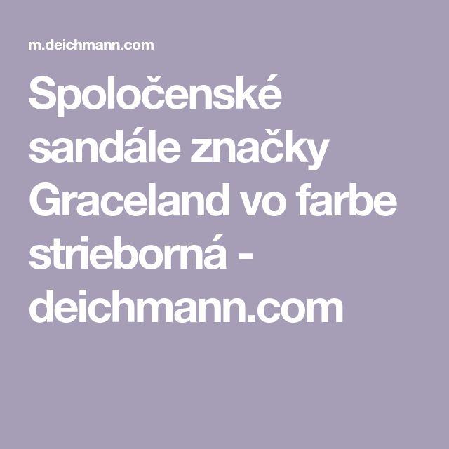 Spoločenské sandále značky Graceland vo farbe strieborná - deichmann.com