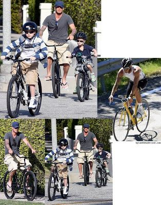 Cozy Beehive: Celebrities Who Ride Their Bicycles