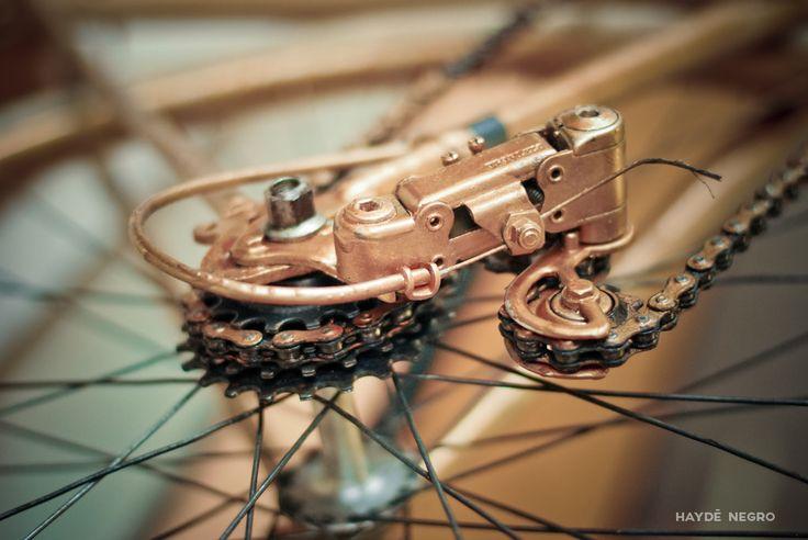 Bicicleta dorada #haydenegro www.haydenegro.com
