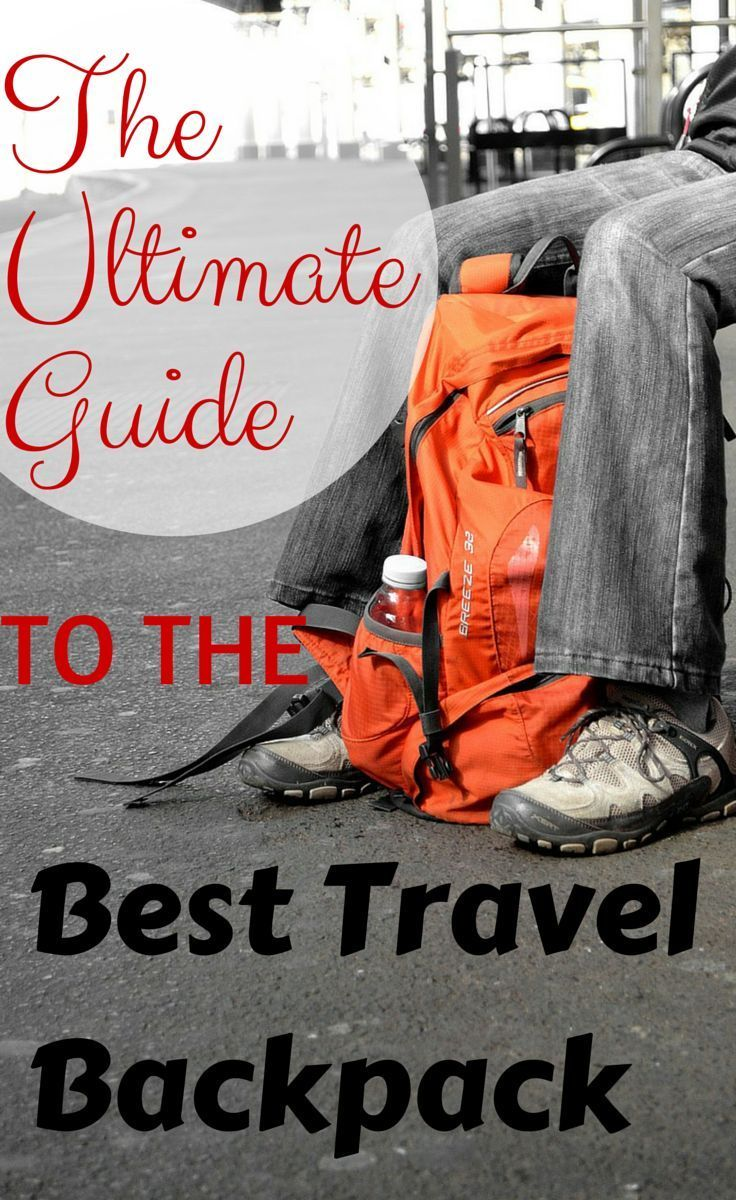 The Ultimate Guide to the Best Travel Backpack http://www.wheressharon.com/reviews/best-travel-backpack/