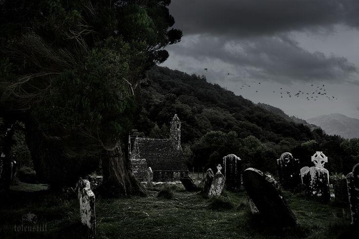 Glendalough, Cemetery, Friedhof, Cimitero, Wicklow Mountain, Ireland