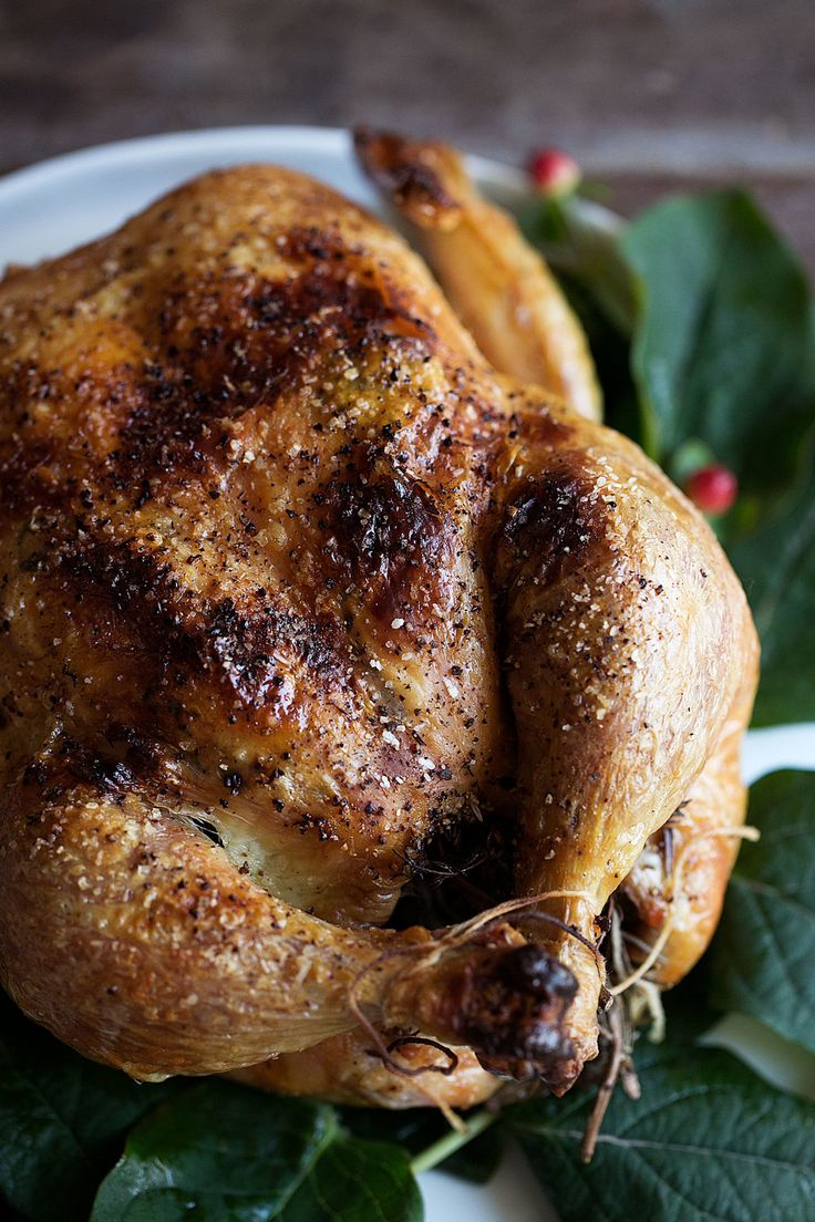 Dry-brined Roast Herb Chicken recipe from Cooking with Cocktail Rings