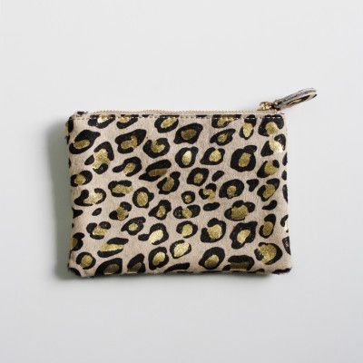 Redcurrent Leopard Pixie Coin Purse, from $39.50.