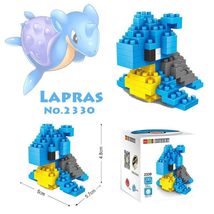 Pocket Pokemon Lapras Figures from Building Blocks