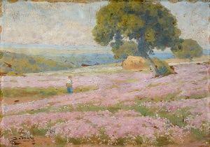 Aukčná spoločnosť SOGA spol. s r.o. - Diela/Pole s kvetinami - aukcie, diela, výtvarné diela, umenie, obrazy, starožitnosti, online aukcie, umelci